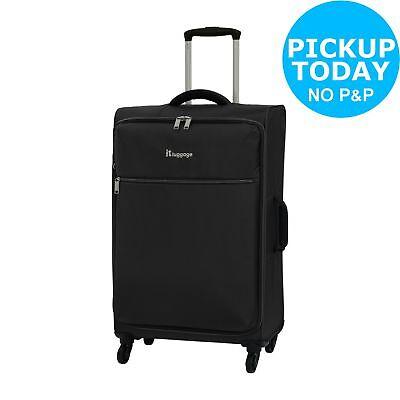 IT Luggage The LITE Medium 4 Wheel Suitcase - Black.