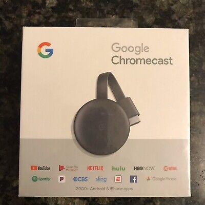 Google Chromecast Streaming Media Player 3rd Generation