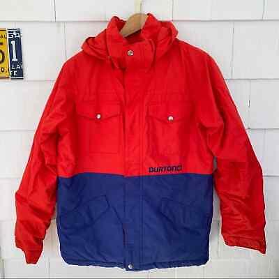 Burton Red Blue Chittagong Snowboard Ski Jacket Parka XL Size 18 Boys