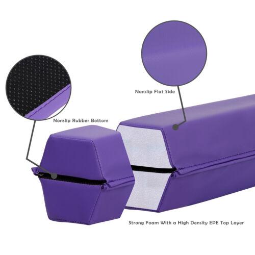 6ft Balance Beam – Extra Firm – Vinyl Folding Gymnastics Beam  Tumbling Home Equipment