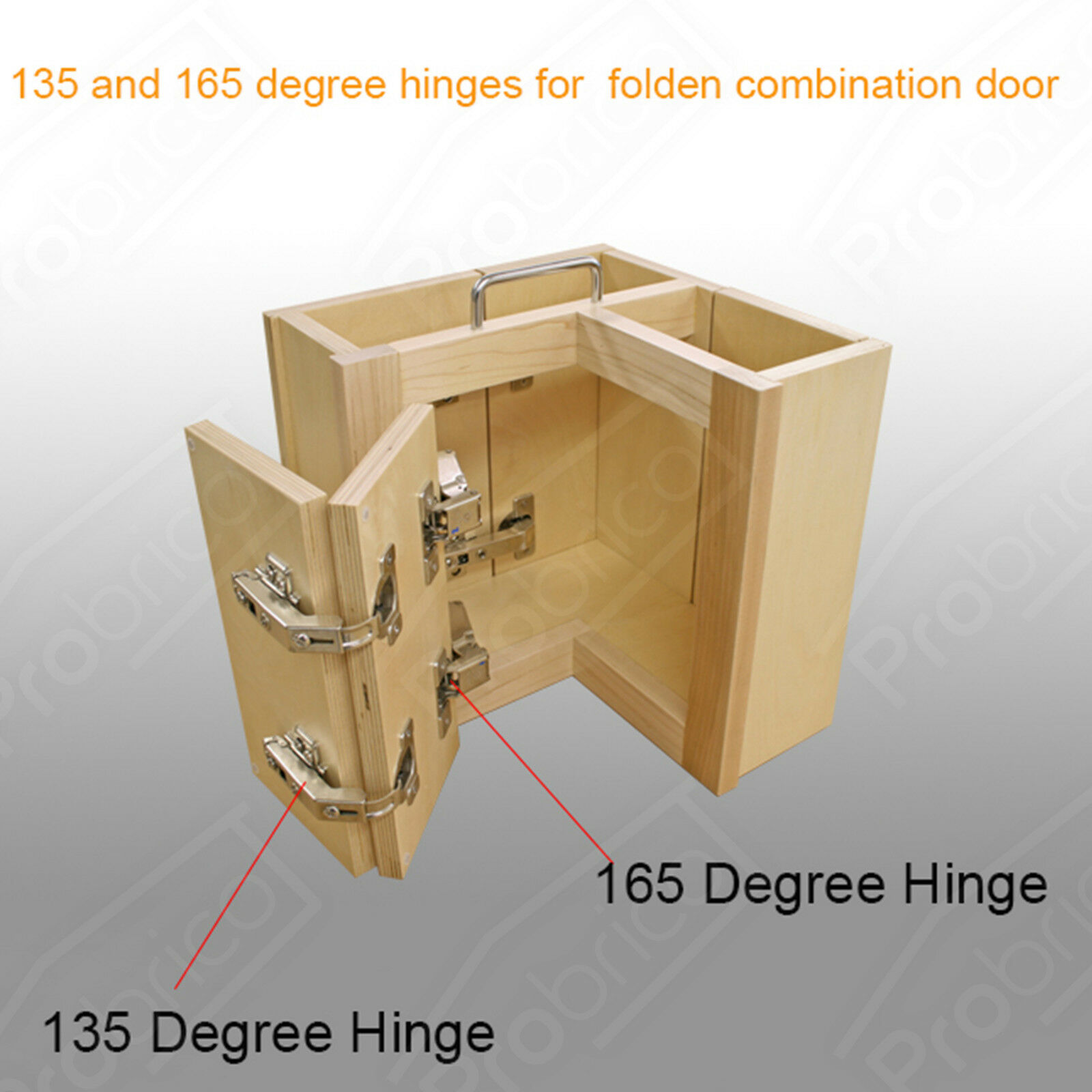 1 pair corner folded folden kitchen cabinet cupboard door hinges combination 135 ebay. Black Bedroom Furniture Sets. Home Design Ideas