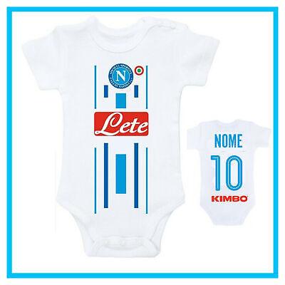 Body Neonato Napoli Personalizzato Con Nome In Cotone Divertente Bimbo Bambino