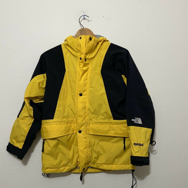 Vintage North Face Mountain Light 2 Parka Jacket Kids Medium Hydroseal Yellow