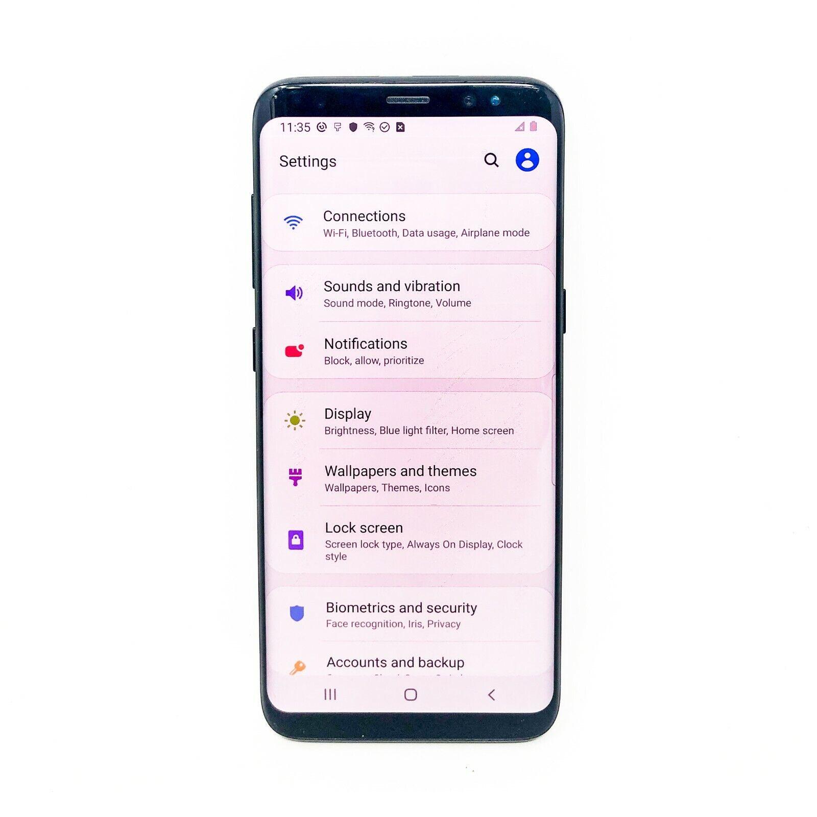 Android Phone - Samsung Galaxy S8 - 64GB - Factory Unlocked - SM-G950U Android - Midnight Black