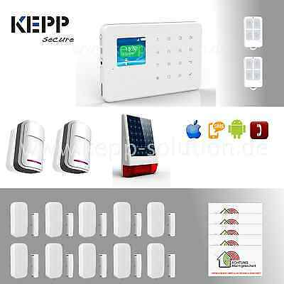 KEPPSECURE GSM FUNK Alarmanlage mit Touchpad, steuerbar per APP,SMS und Telefon