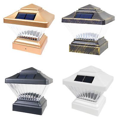 18 Black / Copper / White 4 x 4 Solar Post Deck Cap Fence LED Light PVC Vinyl ()