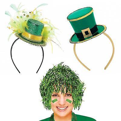 St. Patrick's Day Wig Fancy Headband Bopper Top Hat Leprechaun Party - St Patrick's Day Accessories