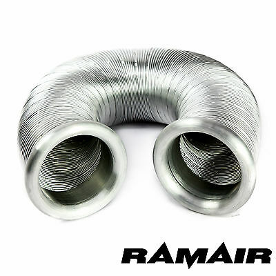 RAMAIR Cold Air Feed Ducting Intake Hose Pipe For Induction 80mm x 0.5m Silver