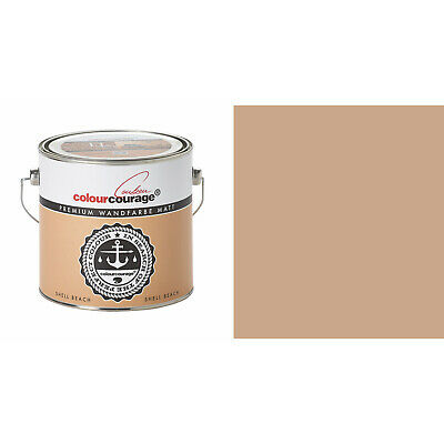 2,5l Colourcourage Premium Edelmatte Color Pared Cáscara Beach Marrón Claro