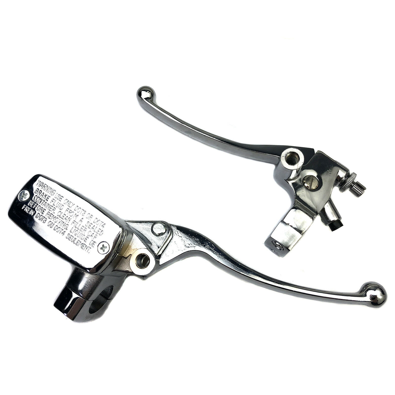 "Pair 1/""25mm Motorcycle Handlebar Hydraulic Brake Clutch Lever Master Cylinder"