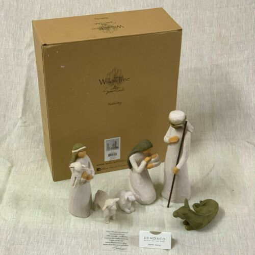 Willow Tree Nativity_sculpted hand-painted nativity figures| 6-piece set, 26005