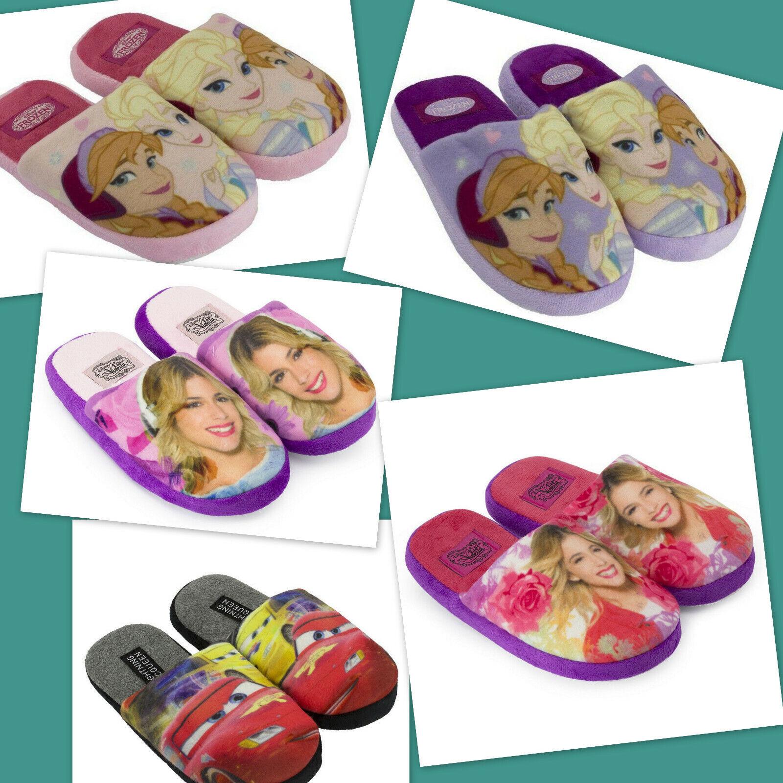 Frozen / Cars / Violetta Hausschuhe PANTOFFELN Schuhe Fleece mit rutschfester No