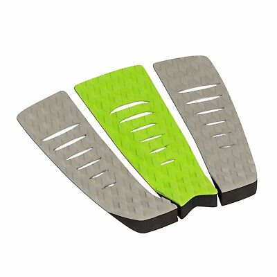 - Surfboard Traction Pad - 3 Piece Diamond Grey Green Grey | Skimboard