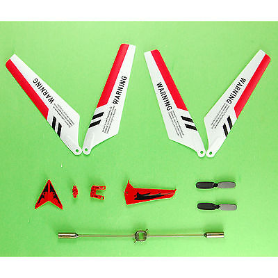 US Brute Blades Full Spart Parts Set of 4 for Syma S107/S107G RC Helicopter Red
