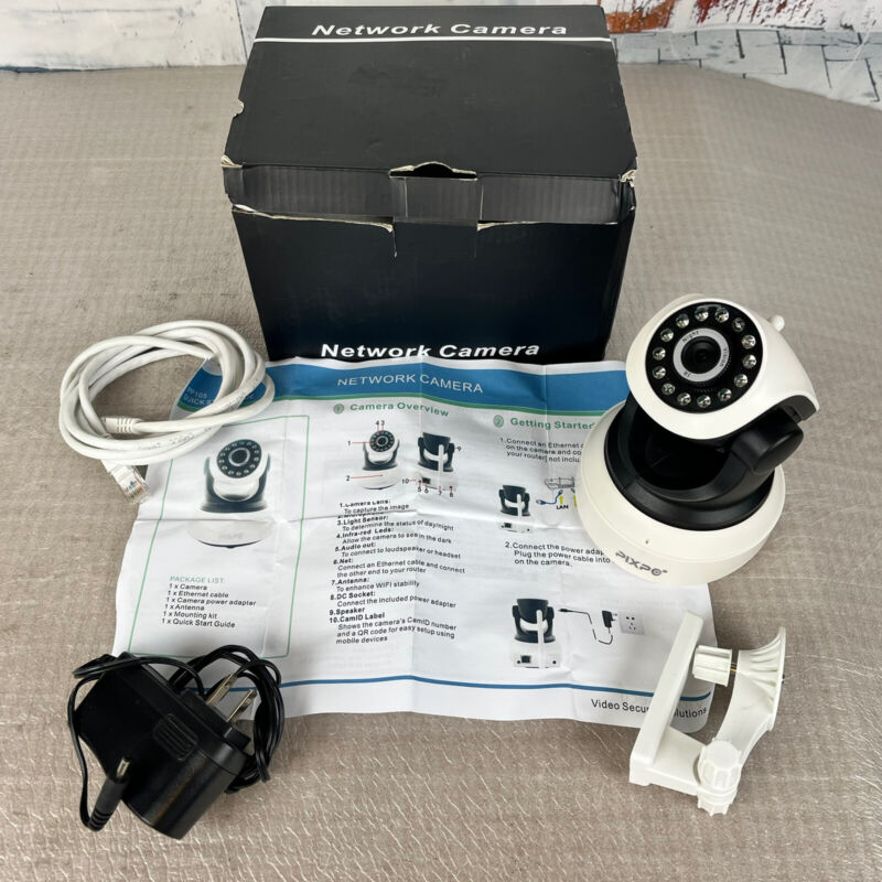 PIXPO IPP105 IP Network Security Camera Baby Monitor ~ Preowned