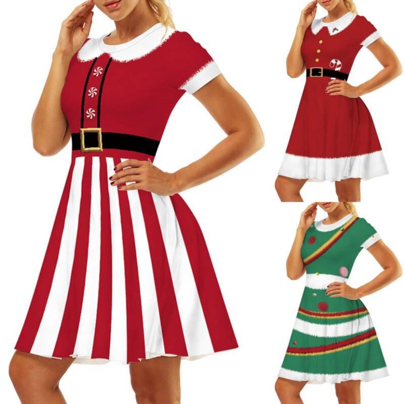 Mrs Santa Claus Christmas Fancy Dress Xmas Ladies Adults Cos