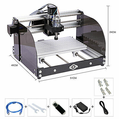 Laser Head Cnc Router Machine 3 Axis Pcb Milling Machine Wood Router Engraver12v