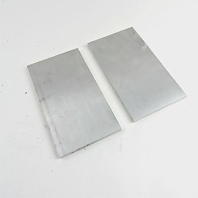 .375 Thick 6061 Aluminum Plate 7.125 X 12.375 Long Qty 2 Stock Sku122288