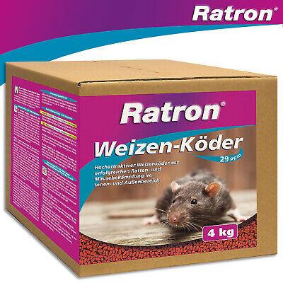 Frunol Delicia 4 KG Ratron Weizenköder 29 Ppm Rat Poison Giftköder