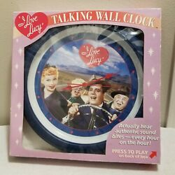 New I Love Lucy Rare Talking Wall Clock Plays Lines From the Show with Batteries