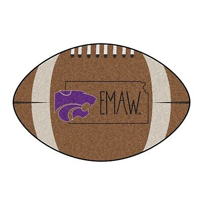 """Kansas State Wildcats Southern Style 22"""" X 35"""" Football Shaped Area Rug"""
