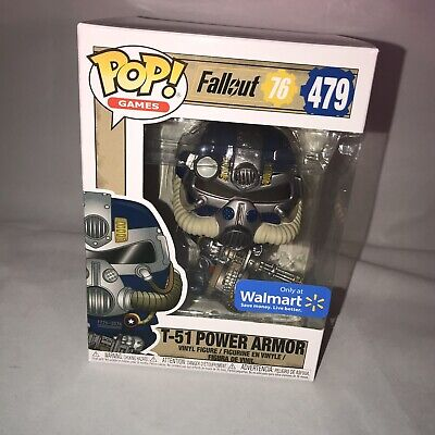 FUNKO POP! Games Fallout 76 T-51 Blue Power Armor #479 Only at Walmart - Games At Walmart