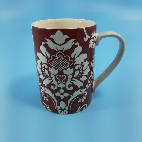 Red Floral Scroll Coffee Mug. 222 Fifth 12oz Coffee Or Tea Mug
