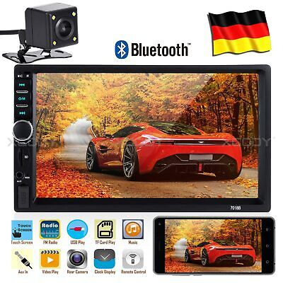 Doppel 2 DIN Autoradio Car Stereo MP3 Player 7 Zoll Touch Bluetooth USB + Kamera