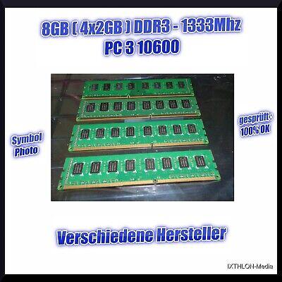 1333 Pc10600 Speicher (8GB (4x2GB ) DDR3 - PC10600 - 1333Mhz - ARBEITSSPEICHER)