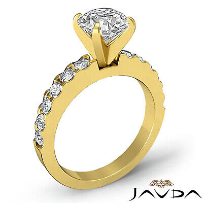 Shared Prong Round Natural Diamond Engagement Ring GIA Certified H SI1 1.47 Ct 7