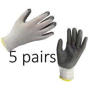 5-x-NITRILE-COATED-WORK-GLOVES-CONSTRUCTION-GARDENING-BUILDERS-DIY-HOME-Size-L