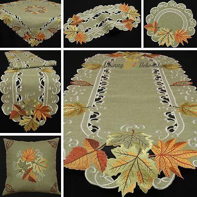 Autumn Fall Doily Table runner Tablecloth Cushion cover Line