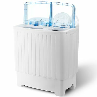Mini Compact Twin Tub Portable Washing Machine 17.6lbs Washer w/ Wash and Spin