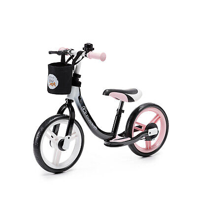 Kinderkraft Bicicleta sin Pedales SPACE Niño Sillín Ajustable con Freno Rosa