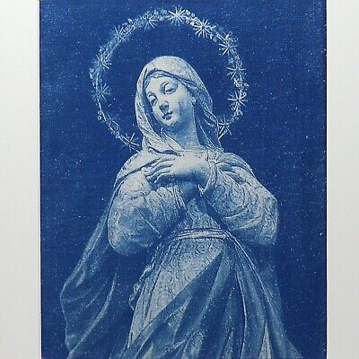 Madonna of Saint George Chapel (Padua, Italy) on Hemp/Muslin | Cyanotype