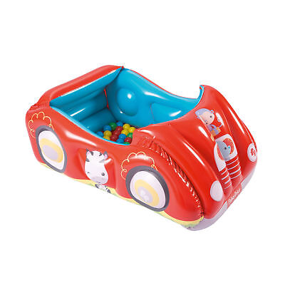 Fisher Price Race Car Inflatable Play Pen Ball Pit Activity Center with 25 Balls