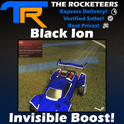 [PC STEAM] Rocket League Black ION INVISIBLE Import boost Painted Cheapest (Cheapest Paint)