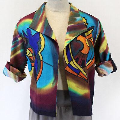 New Dilemma Plus Gockel Inspired Raw Silk Heavy Cardigan Top Os Fits Xl 1X 2X