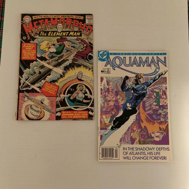 DC Comics Lot Of 2-Vintage Metamorpho #2 1965 & Aquaman 1982 Not Graded