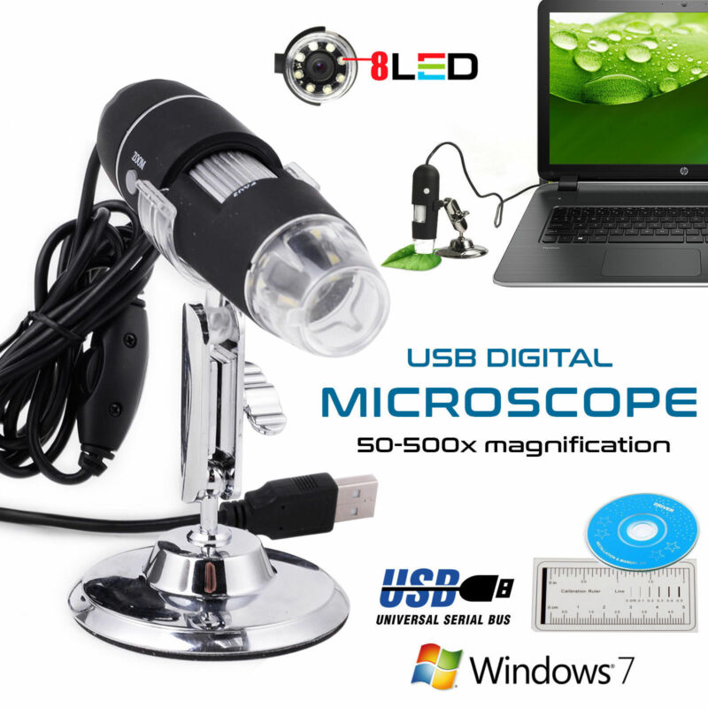 Portatile 40X-1000X 8 LED USB Microscopio Digitale Endoscopio Fotocamera