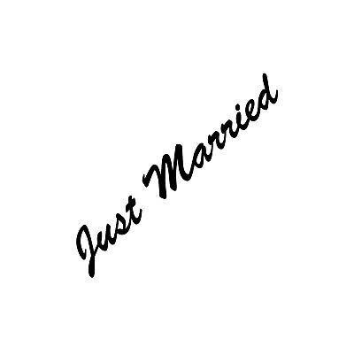 Just Married 30cm Negro Pegatina Tatuaje Boda Decoración Lámina Coche Heck Disco