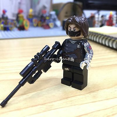 Winter Soldier Minifigure Agent Marvel Comics Barnes Bucky Building Toys 2RETG3