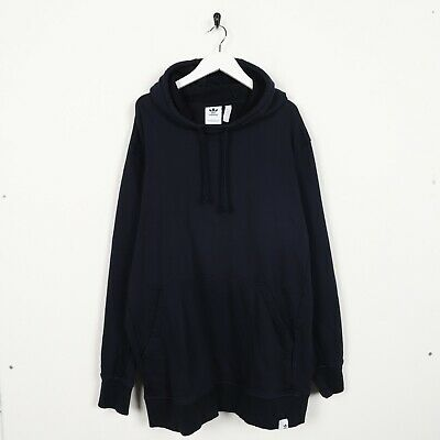 Vintage ADIDAS ORIGINALS Hoodie Sweatshirt Navy Blue | 2XL