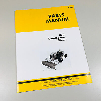 Parts Manual For John Deere 250 Landscape Rake Catalog