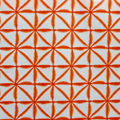 Burnt Orange Geometric Oilcloth Wipe Clean Tablecloth Round Rectangle Square