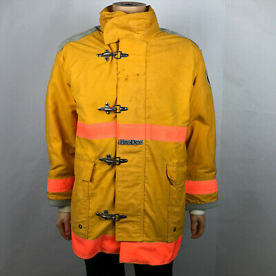 Firefighters Coat Fire-dex Jacket Yellow Nomex Iii A Meta Aramid Liner Lg Large