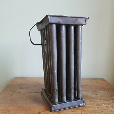 Late 1700s Early 1800s Antique Tin 12 Taper Candle Mold