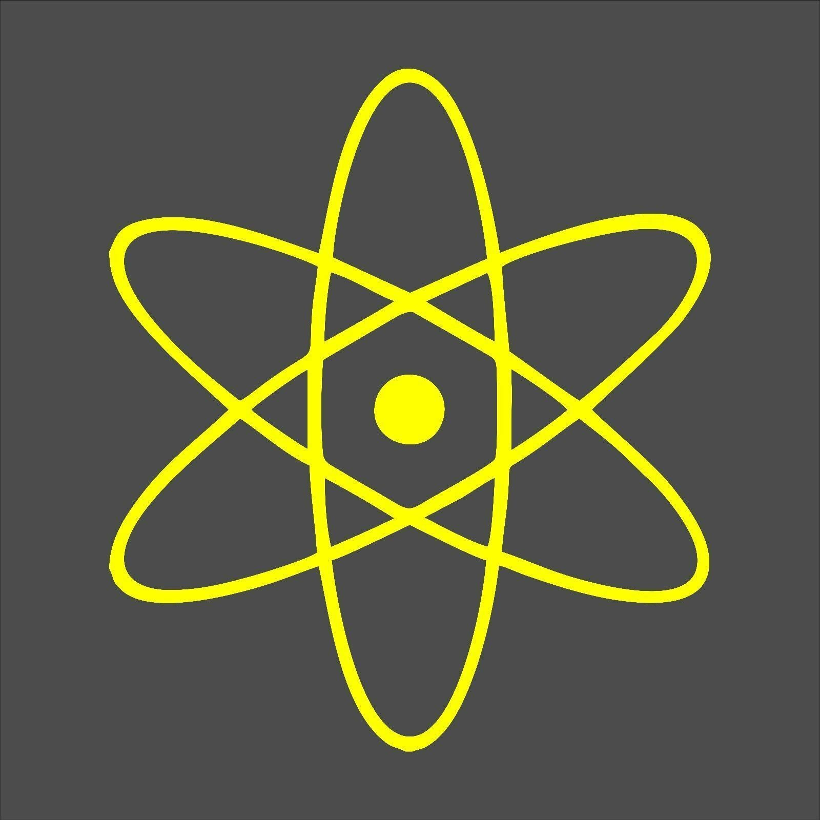 Atom Decal / Sticker - Choose Size & Color - Big Bang Theory