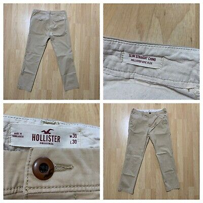 HOLLISTER Size 30x30 Men's Chino Pants Slim Straight Epic Flex
