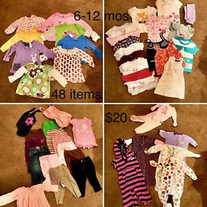6-12 mos girl clothes (48 items)